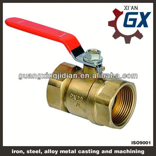 Cast NPT full port private label on handle actuator with electrical brass ball valve