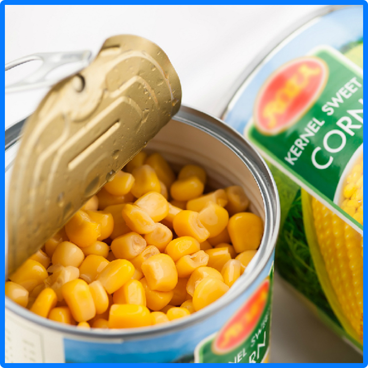 114g canned sweet corn yellow style made in Fujian province of China