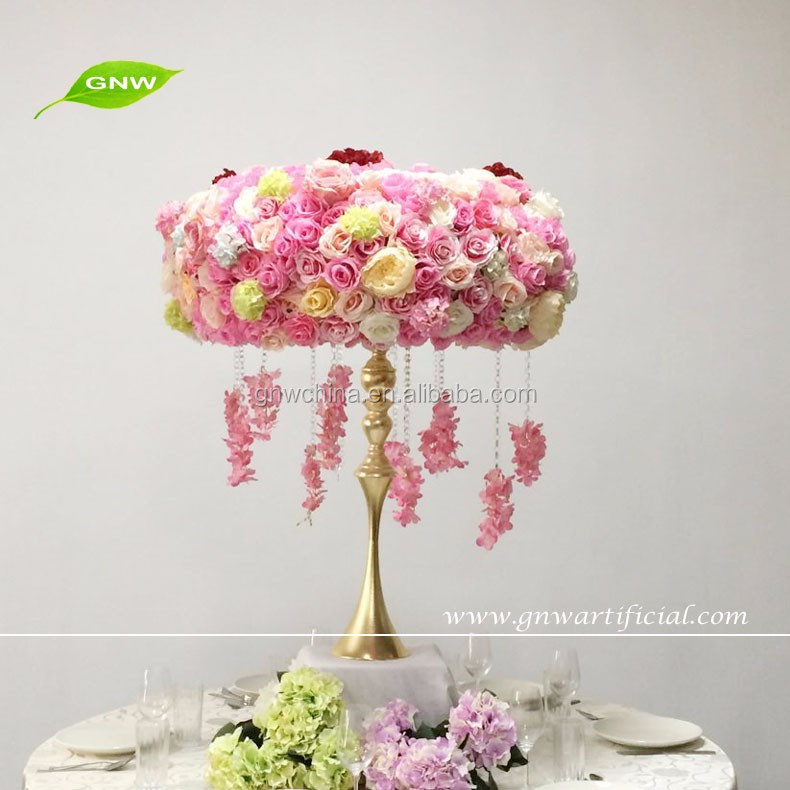 Gnw Ctr1606001 Artificial Rose And Hydrangea Flower Table Wreath