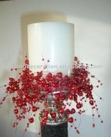 Red Pearl Bead Garland for Candle decor