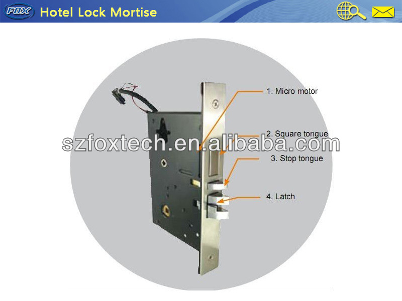 FOX Hot Design Split Hotel Room Door Locks FL-012G