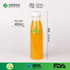 300ml 400ml 500ml tamper screw lid plastic orange juice bottle pet clear drink milk bottle food garde bpa free transparent