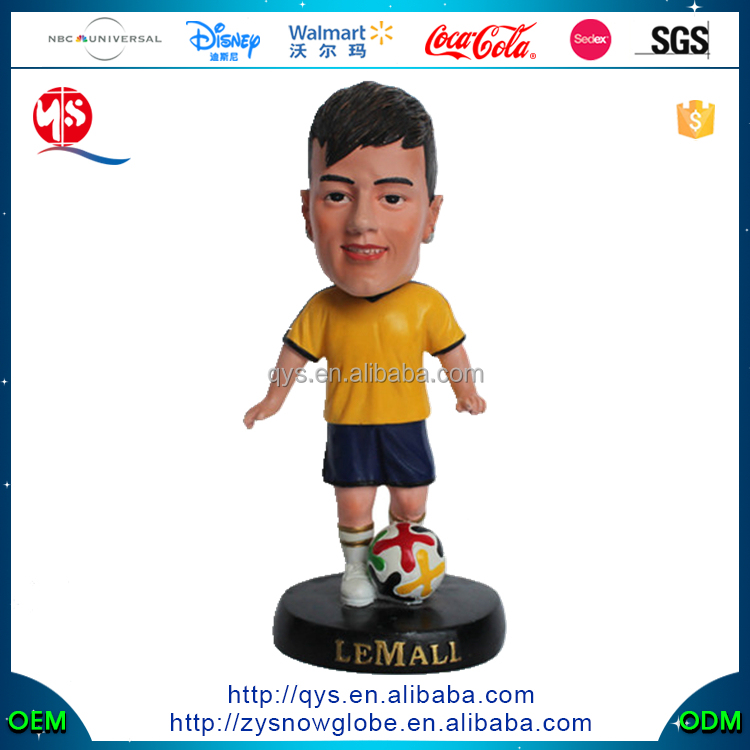 Neymar Human Bobble Head Soccer Player Statue Figurine With soccer Bobbleheads
