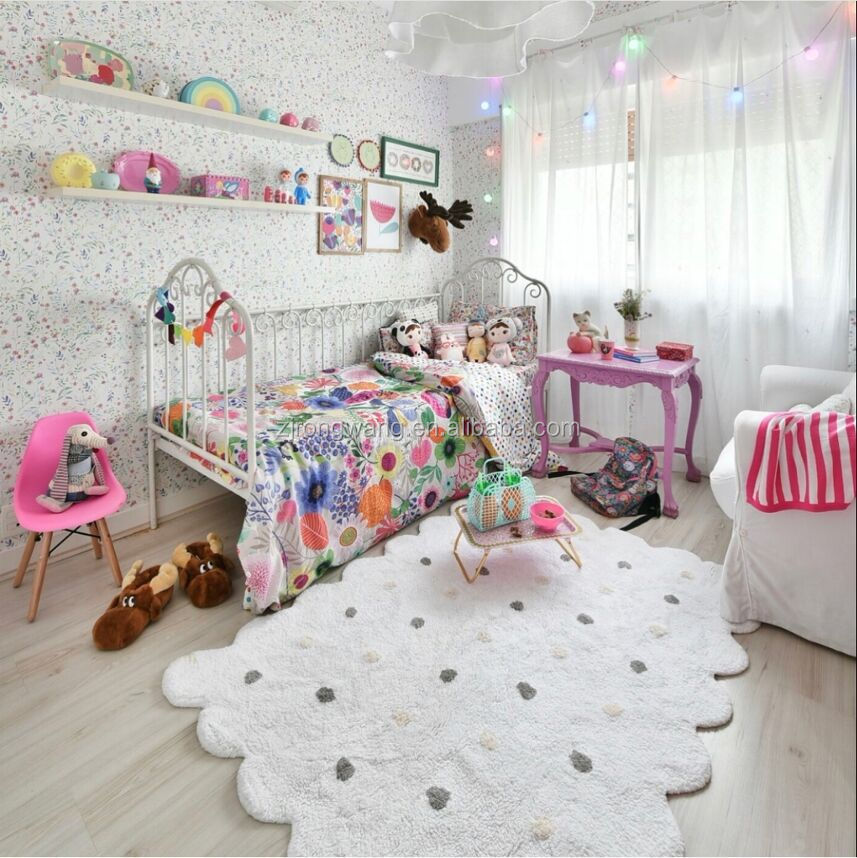 Nordic style oversized polka dot biscuit floor mat children's play mat for children's room decor