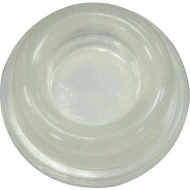 2-Pack Wall Door Stops, Self adhesive Clear Door Knob Bumpers. 0.7 inch thick - 1.8 inch diameter.