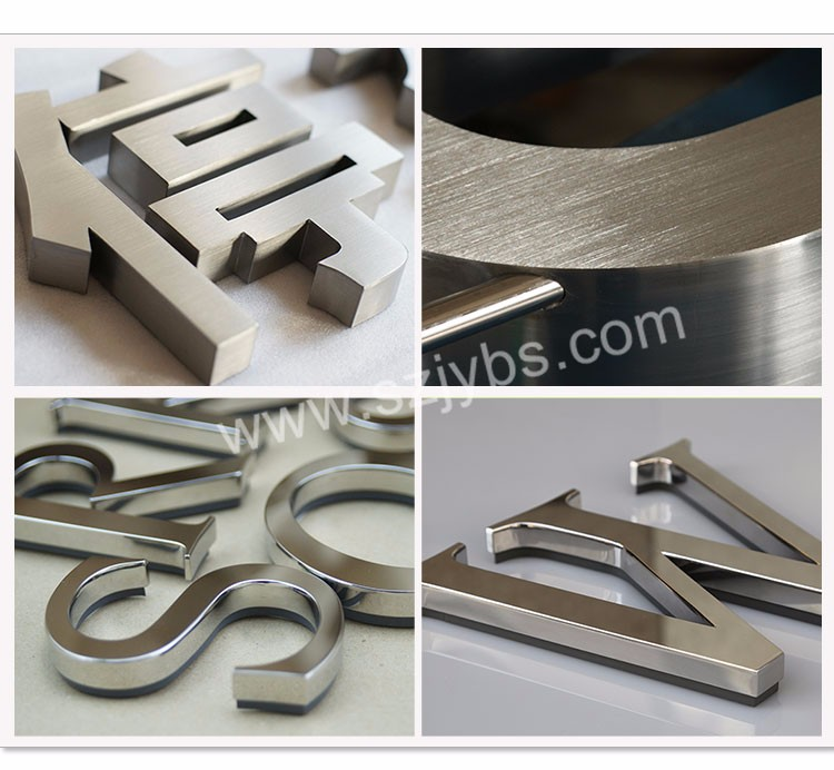Laser Welding Metal Decorative Letters Mirror Stainless