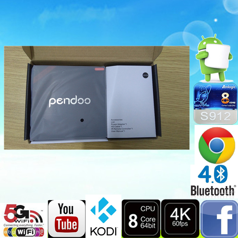 Pendoo Minimx Pro S912 <strong>2G</strong> 16G <strong>android</strong> <strong>TV</strong> <strong>box</strong> 2gb Full HD download <strong>Android</strong> 6.0 dual WiFi KDplayer16.1 <strong>TV</strong> <strong>Box</strong>