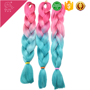Fashionable two colored synthetic braiding hair ombre jumbo braiding hair braiding plaits