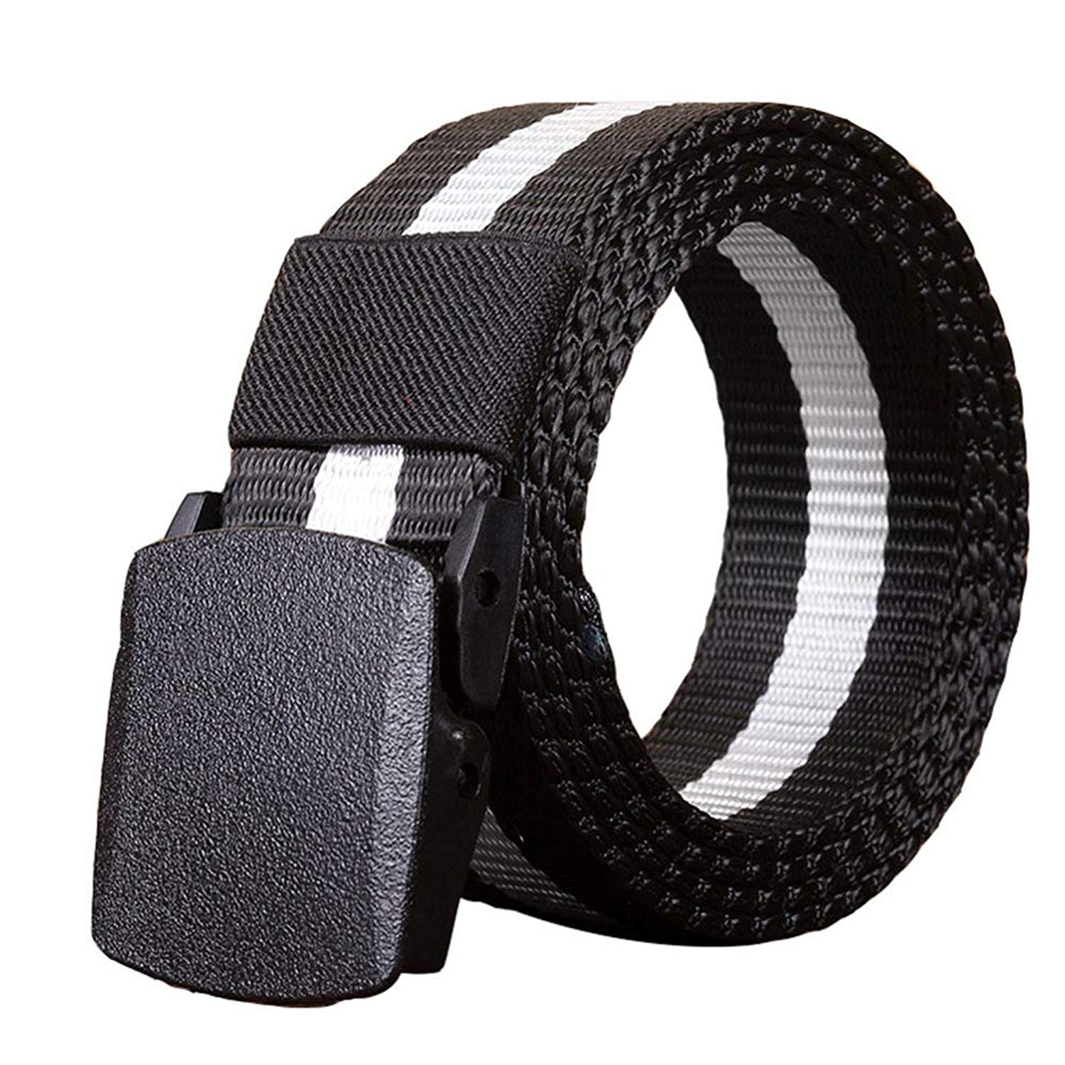 sourcingmap Unisex Canvas Web Belt with Metal Slide Buckle Width 1 1//2 Inches