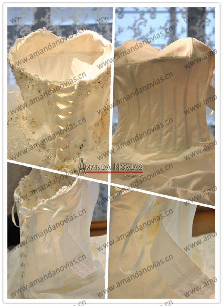 2019 Jubah Mariage Amanda Novias Renda Lengan Panjang Weeding Dress Ball Gown