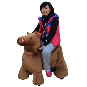 children plush kids rides mechanical riding electronic horse for sale