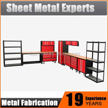 Metal Rack And Cabinet Combo Heavy Duty Modular Tool Storage System For  Garage And Workshop