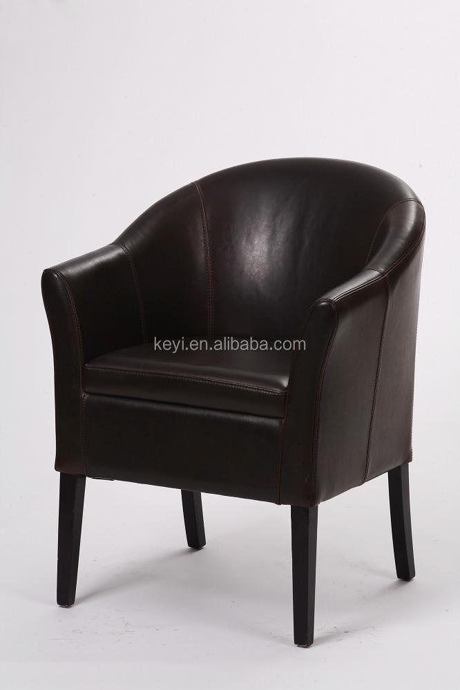 Restaurant Chair Modern Black Leather Armchair(KY 1177)