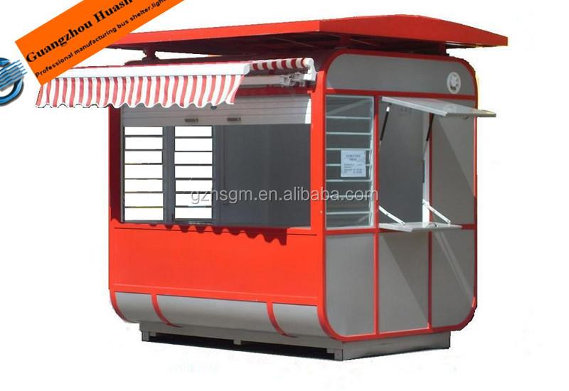 Prefab Outdoor Metal Retail Kiosk Boothmodern Design