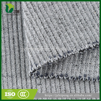 Yarn dyed polyester/cotton flat rib cuff collar fabric