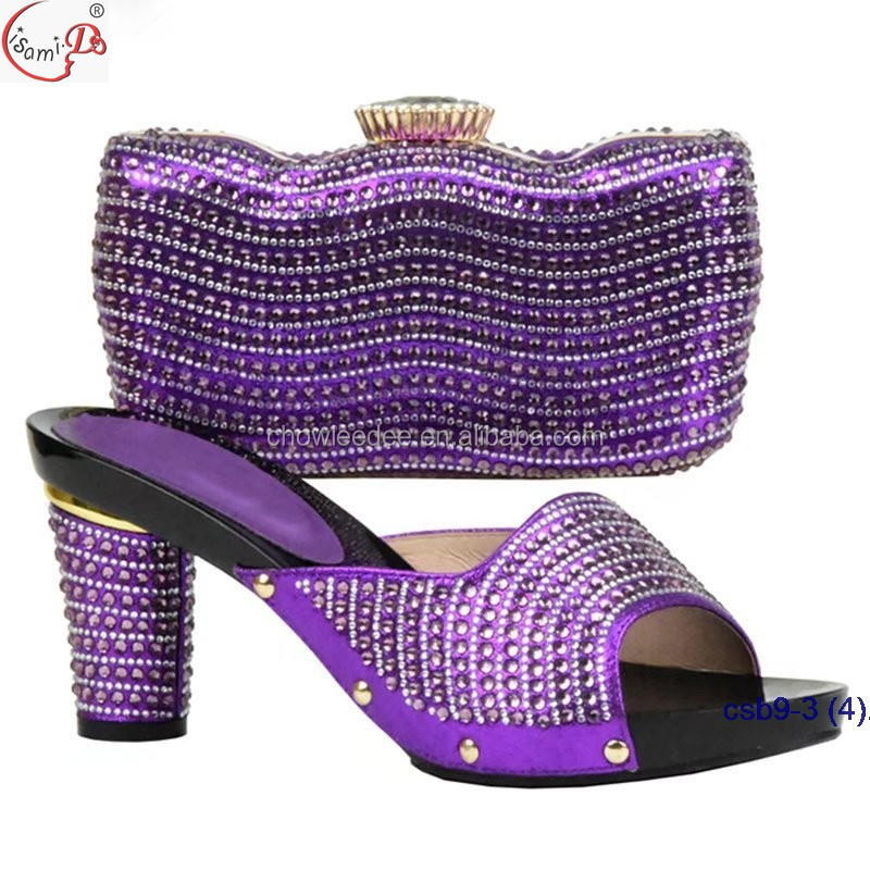 NIgerian and shoes slipper crystal style match wedding Bridal bag bag 2018 popular gold frOfx4qCw