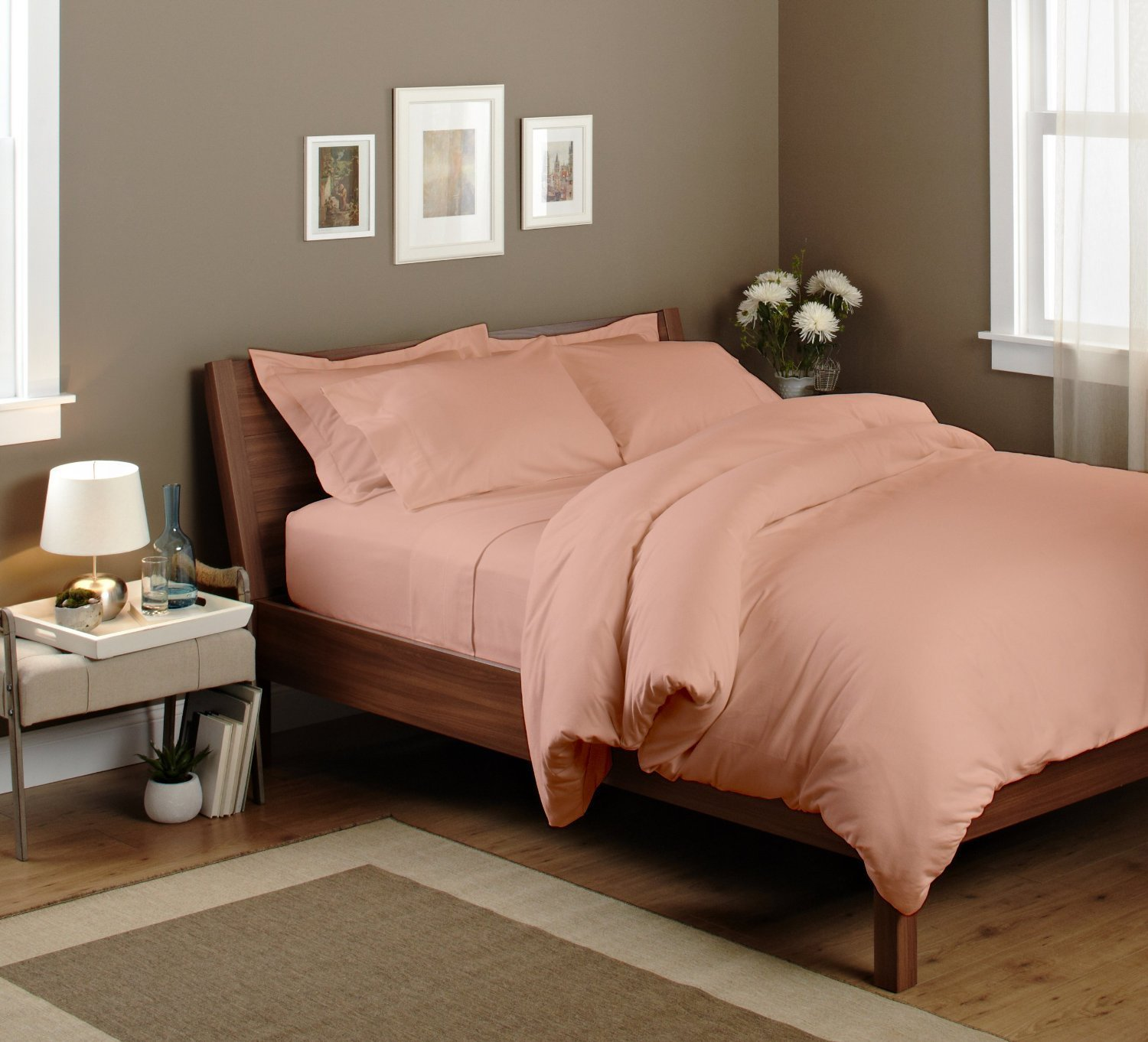 Twin Flat Sheet Only - Soft & Comfy 100% Micro Fiber- By Crescent Bedding (Twin , Rose)