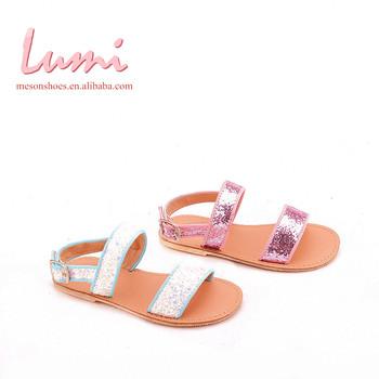 2bfca7cd4 China Factory Bling-bling Blue Pink White Girls Sandal Shoes - Buy ...