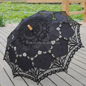 High quality china wedding lace parasol umbrella wholesaler