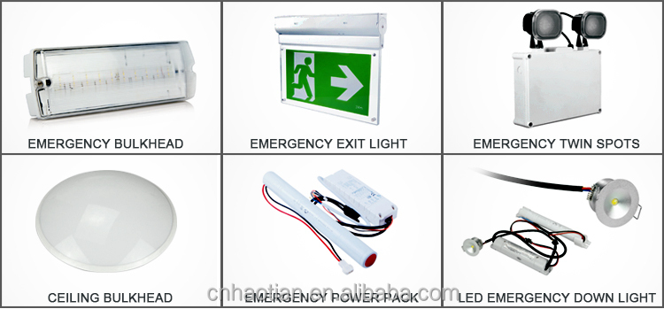 Rechargeable exit led emergency light with good price and CE ROHS approval