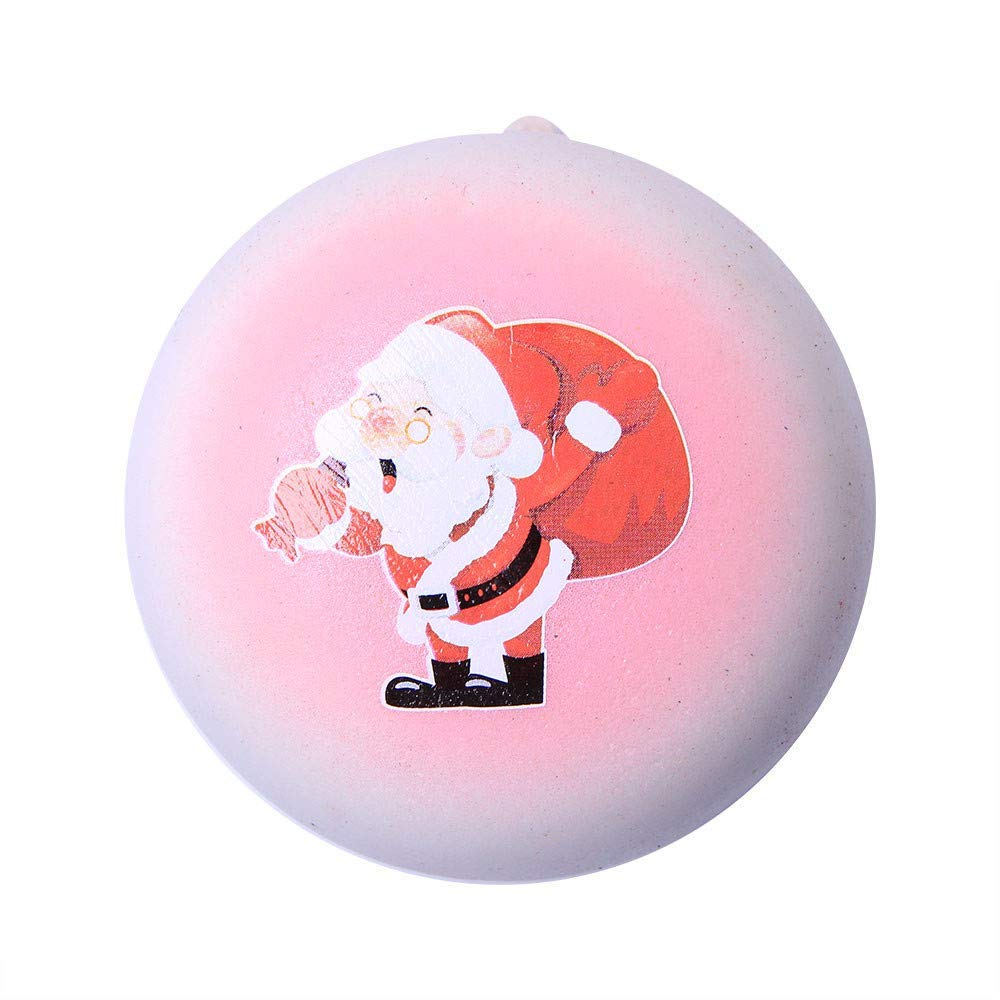 callm Soft Stress Reliever Toys,Squishy Christmas Hot Santa Claus Bread Slow Rising Squeeze Squishies Toys Cure Fun Gifts Decor for Kids Adults (Pink)