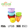 Custom logo stainless steel mixing bowl set salad mixing bowl with color
