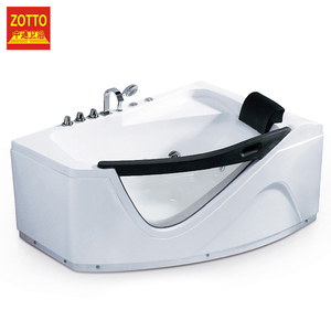 Best choice of hotel white elegant baths hot water massage bathtub spa tub with adjustable function
