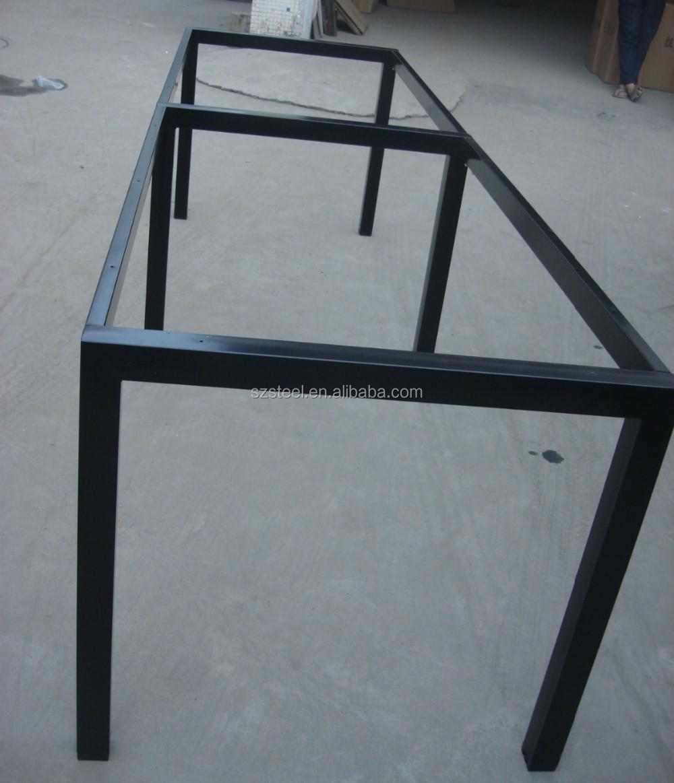 Office Table Frame, Square Tube Table Frame, Galvanized Steel Table Legs