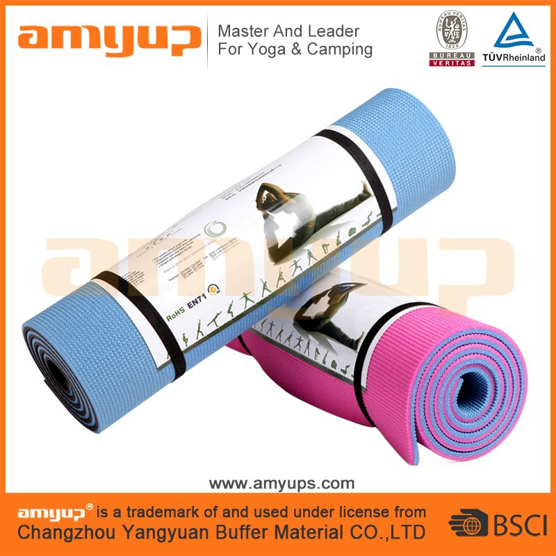 Xpe Camping Yoga Exercise Roll Mat With Two Tone Color
