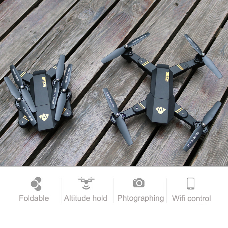 Selfie Drone With Camera XS809 XS809w Fpv Drone Rc Helicopter Remote Control Toy For Kids VISUO Xs809hw Foldable Drone