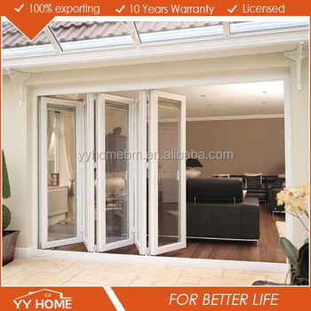 Yy Home Bi Fold Screen Door Bifold Doors Glass Panel Garage Door