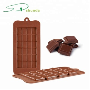 24Grid Square Chocolate Mold Bar Block Ice Platinum Silicone Cake Candy Sugar-Bake Mould