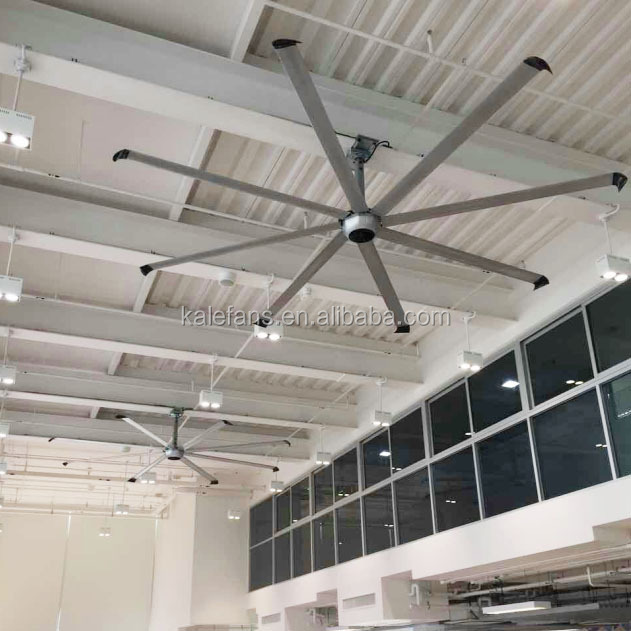 14FT 8 blades Silent Diamond gym air circulator hvls metal blade warehouse ventilation ceiling fans for horse stables
