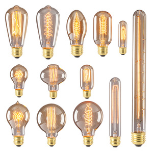 Vintage Lights Antique Style Lamp Edison Bulb A19/G95/ST64/T45 Decorative Lighting E27 220V