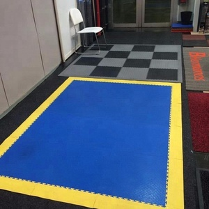 High-strength portable temporary plastic interlocking floor, interlocking garage/workshop/warehouse plastic/pvc floor tile mat