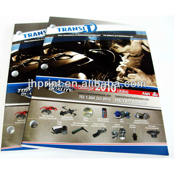 the best price China factory high quality printing A4 catalog with punch hole