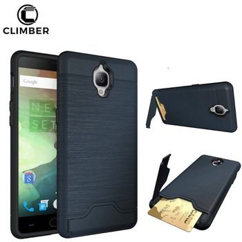first rate d0227 624d0 Non Slip Brush Line Tpu Pc Credit Card Slot Holder Stand Rugged Back Cover  For Oneplus 3 5 3t 5t Three Shell Case - Buy Card Slot Case For Oneplus ...