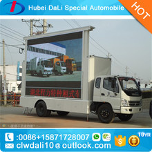 Foton Forland p6 led screen dispaly van led mobile advertising trucks for sale