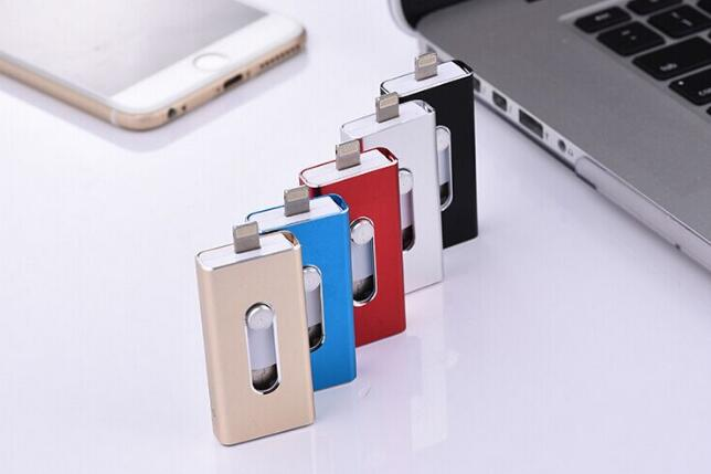 3in1 OTG USB 2.0 flash drive 32gb 64gb 128gb for iphone android PC