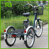 adult aluminum lithium practical electric trike with strong power pedal assisted TDN06Z-1416