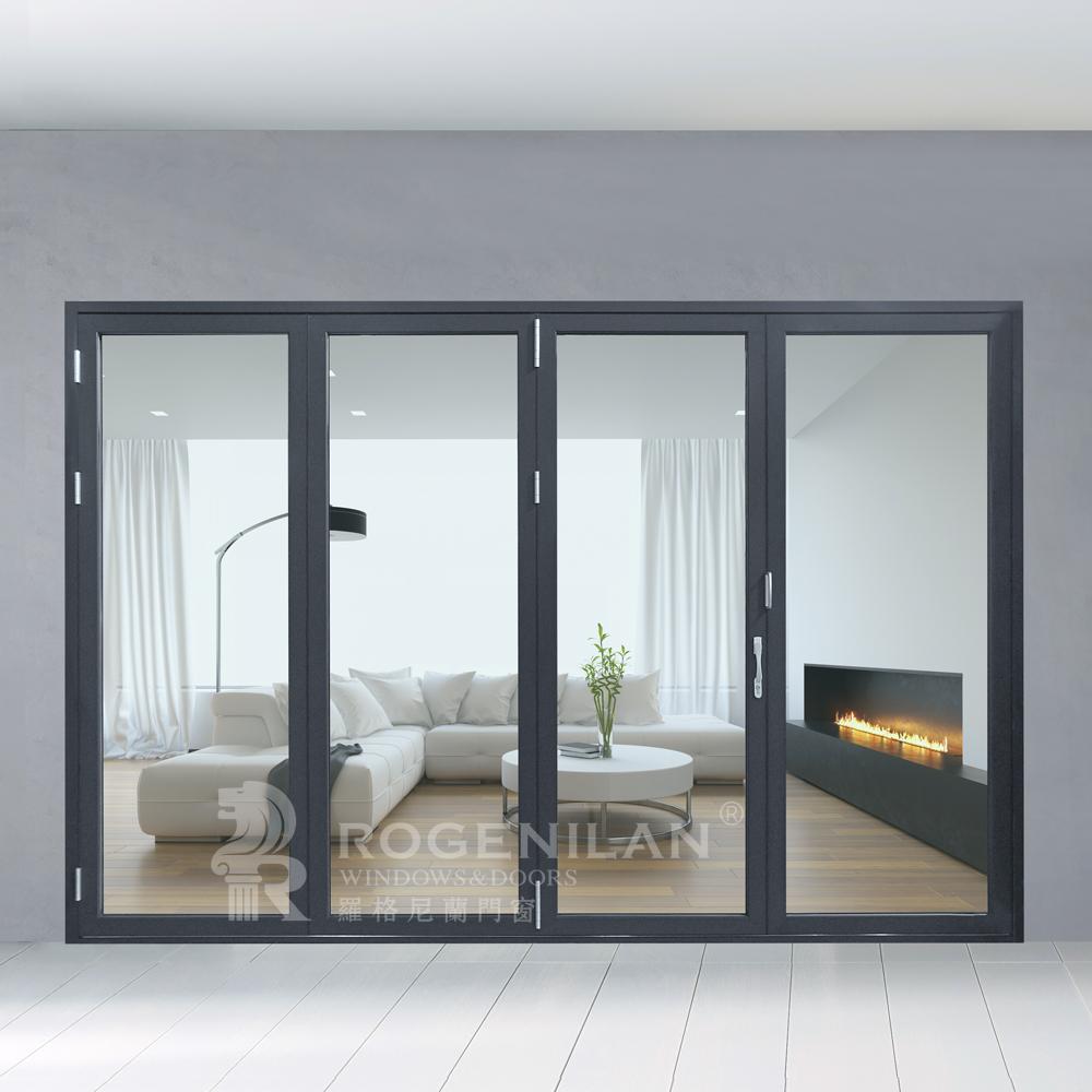 Rogenilan 75 Series Soundproof Glass Bifold Doorsinterior Glass