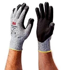 3M CGXL-CR Cut Resistant Comfort Grip Glove X-Large Nylon Fiber Gray