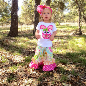New Baby Girl Summer Beautiful Cotton Baby clothes Boutique Girls Easter clothing sets