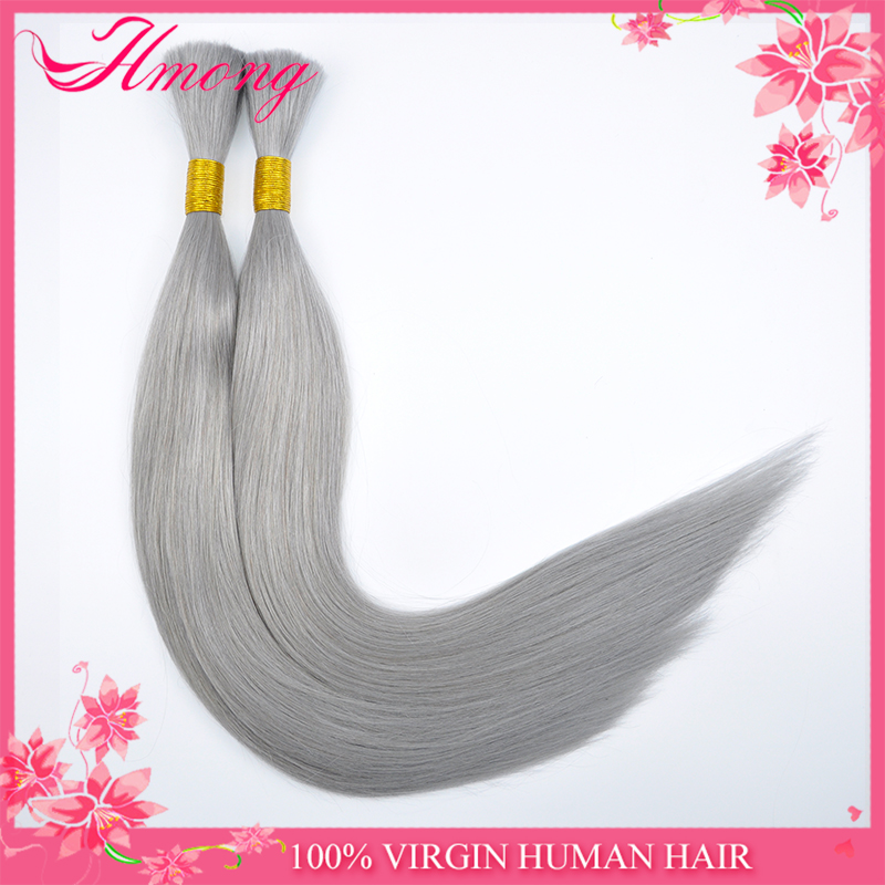 Wholesale Alibaba Best Quality Indian Hair Extensions Grey Hair Wefts