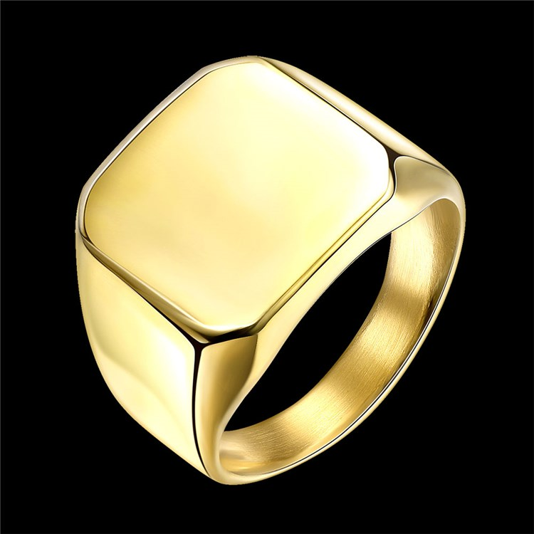 Titanium 316L stainless steel Latest gold finger ring designs for men