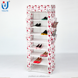 Fabric portable waterproof shoe rack cabinet