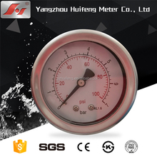 2.5 60mm all stainless steel high quality pressure gauge