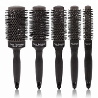 Professional Salon Use Changeable Color Hair Care Ceramic Heat Resistant Round Hair Brush