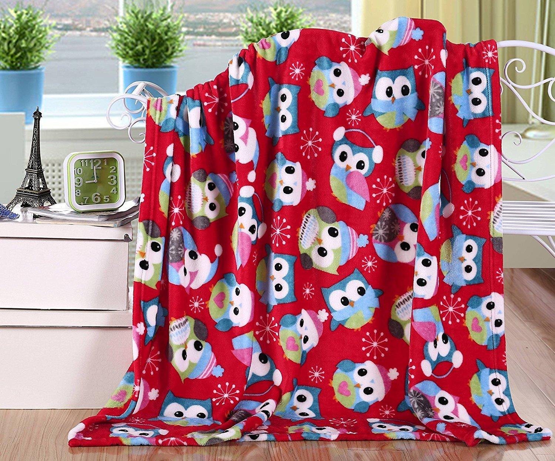 GoodGram Ultra Plush Christmas & Halloween Themed Fleece Throw Blankets - Assorted Styles (Halloween)