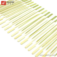 NewFida Vary Size Green Paddle Pick Skewer Bamboo Barbecue Sticks